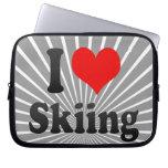 I love Skiing Computer Sleeves