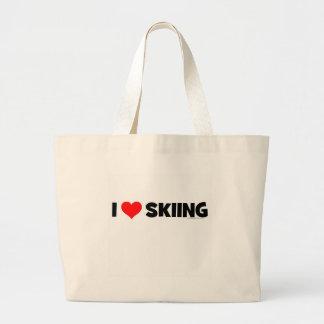I Love Skiing Jumbo Tote Bag