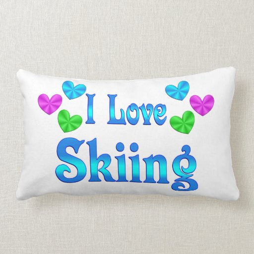 I Love Skiing Pillows