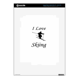 I Love Skiing Decal For iPad 3