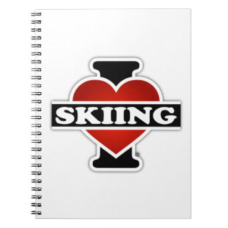 I Love Skiing Spiral Notebook