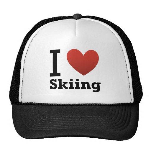 I Love Skiing Trucker Hat