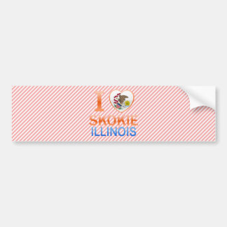 I Love Skokie, IL Car Bumper Sticker