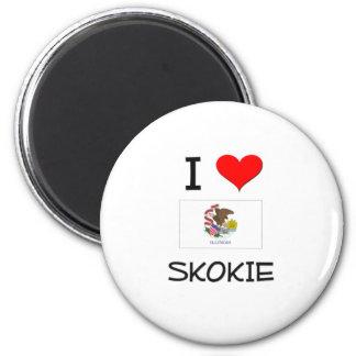 I Love SKOKIE Illinois 2 Inch Round Magnet