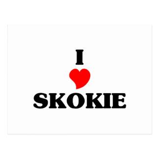 I love Skokie Postcard