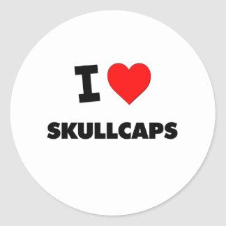 I love Skullcaps Classic Round Sticker