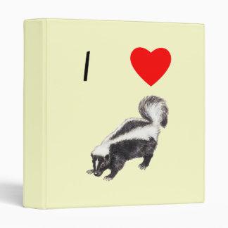I Love Skunks (2) 3 Ring Binder