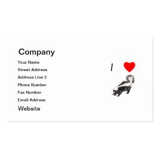I Love Skunks (2) Business Card