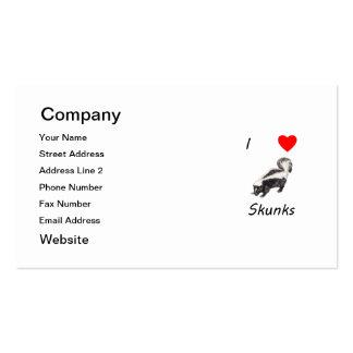 I Love Skunks Business Card