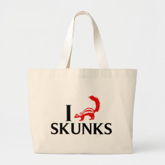 I Love Skunks Canvas Bags