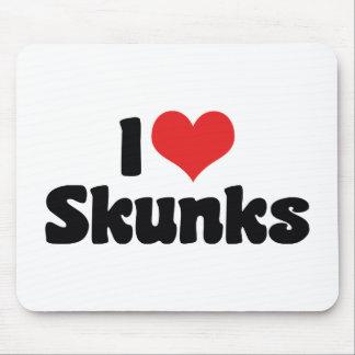 I Love Skunks Mouse Pad