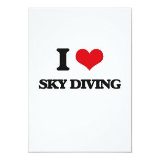 "I love Sky Diving 5"" X 7"" Invitation Card"