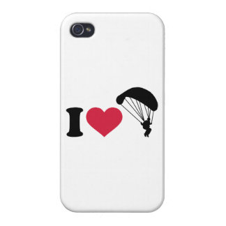 I love Sky diving iPhone 4 Cases