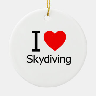 I Love Sky Diving Christmas Tree Ornaments