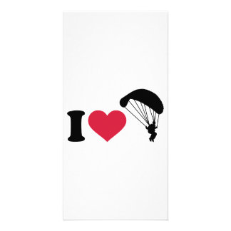 I love Sky diving Photo Card Template