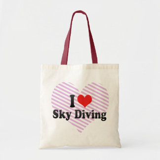 I Love Sky Diving Tote Bag