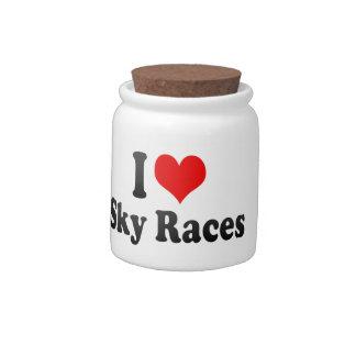 I love Sky Races Candy Dish