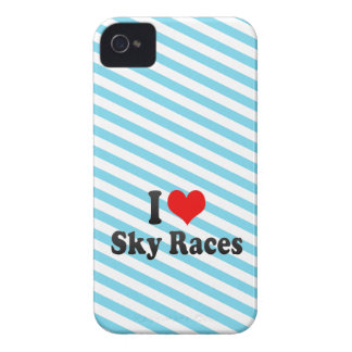 I love Sky Races iPhone 4 Cover