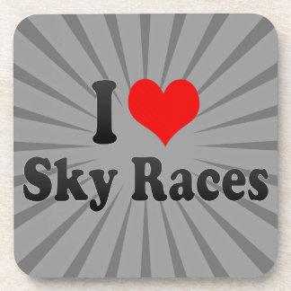 I love Sky Races Drink Coaster