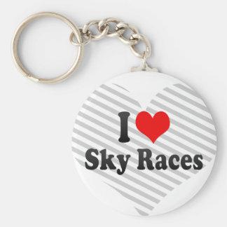 I love Sky Races Key Chain