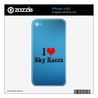 I love Sky Races iPhone 4 Skin