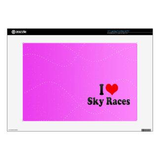 I love Sky Races Laptop Skin