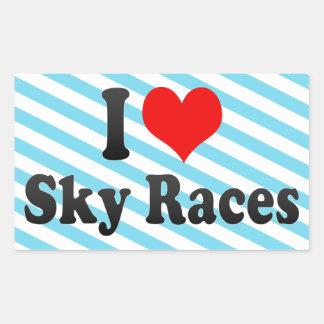 I love Sky Races Stickers
