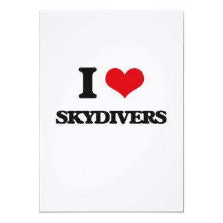 I love Skydivers 5x7 Paper Invitation Card