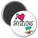 I Love Skydiving 2 Inch Round Magnet