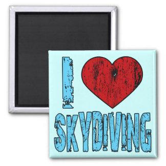 I Love Skydiving 2 Inch Square Magnet