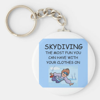 i love skydiving basic round button keychain
