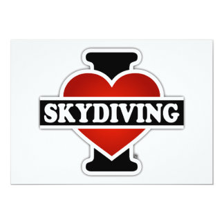 I Love Skydiving Card