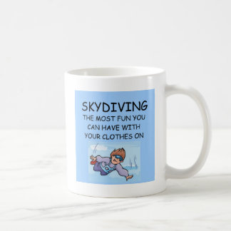 i love skydiving coffee mug