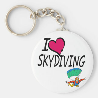 I Love Skydiving Keychain