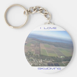 I Love Skydiving Keyring Keychain