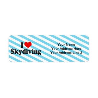 I Love Skydiving Return Address Label