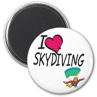 I Love Skydiving Refrigerator Magnet