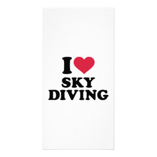 I love Skydiving Photo Card