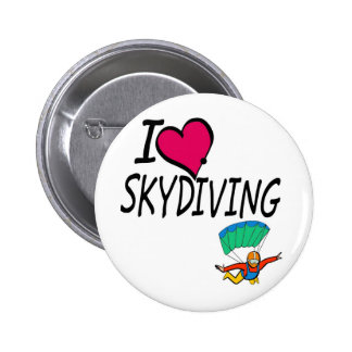 I Love Skydiving Pinback Button