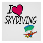 I Love Skydiving Poster