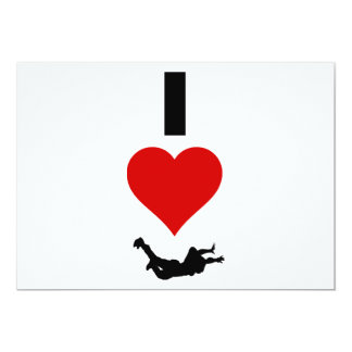 I Love Skydiving (Vertical) Card