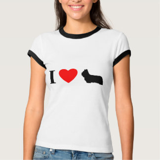 I Love Skye Terriers Ladies Ringer TShirt