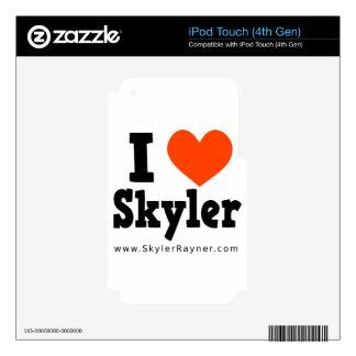 I Love Skyler iPod Touch 4G Skins