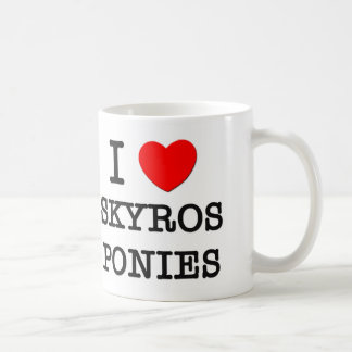 I Love Skyros Ponies (Horses) Classic White Coffee Mug