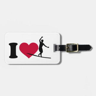 I love Slackline Bag Tag