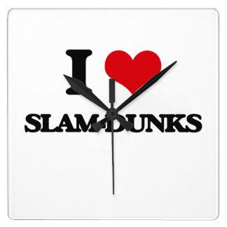 I love Slam-Dunks Square Wall Clocks