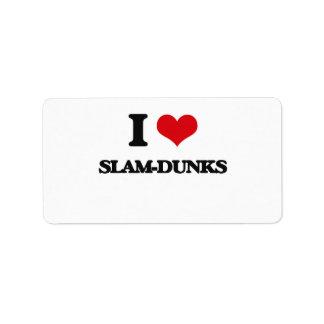 I love Slam-Dunks Address Label