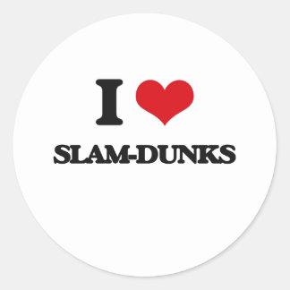 I love Slam-Dunks Classic Round Sticker