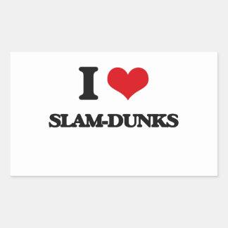 I love Slam-Dunks Rectangular Sticker