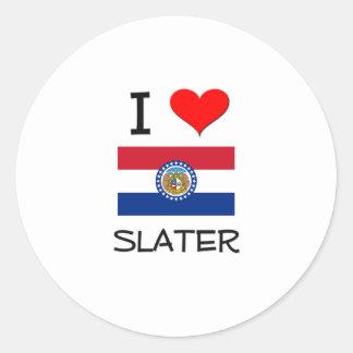 I Love Slater Missouri Stickers